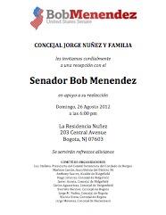 Sen Bob Menendez en Bogota NJ