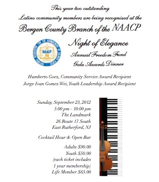 NAACP Honors 2 Latinos flyer